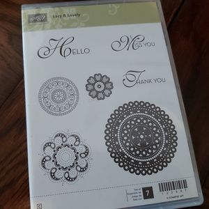 ♡STAMPIN UP-LACEY&LOVELY STAMPS